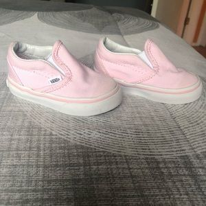 Vans Shoes - Baby pink toddler shoes